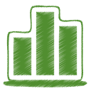 128x128px size png icon of green chart