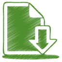 128x128px size png icon of green document download