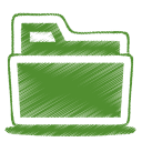 128x128px size png icon of green folder