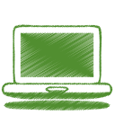 128x128px size png icon of green laptop