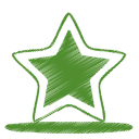 128x128px size png icon of green star