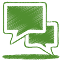 128x128px size png icon of green talk