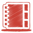 128x128px size png icon of red address book
