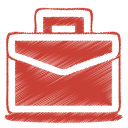 128x128px size png icon of red case