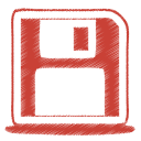 128x128px size png icon of red disk