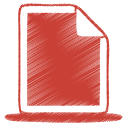 128x128px size png icon of red document