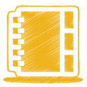 128x128px size png icon of yellow address book