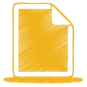 128x128px size png icon of yellow document