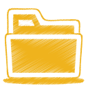 128x128px size png icon of yellow folder