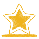 128x128px size png icon of yellow star