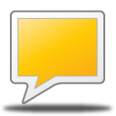 128x128px size png icon of comment rect