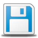 128x128px size png icon of save