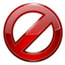 128x128px size png icon of Actions dialog cancel