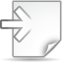 128x128px size png icon of Actions document import