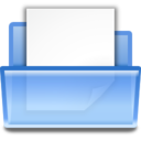 128x128px size png icon of Actions document open