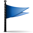 128x128px size png icon of Actions flag blue
