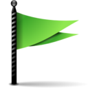 128x128px size png icon of Actions flag green