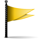 128x128px size png icon of Actions flag yellow