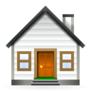 128x128px size png icon of Actions go home
