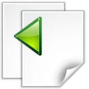 128x128px size png icon of Actions go previous view page