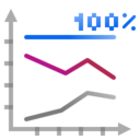Actions office chart line percentage Icon