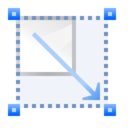 128x128px size png icon of Actions transform scale