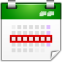 128x128px size png icon of Actions view calendar week