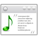 128x128px size png icon of Actions view media lyrics