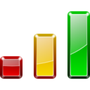 128x128px size png icon of Actions view statistics