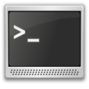 128x128px size png icon of Apps utilities terminal