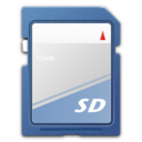 128x128px size png icon of Devices media flash sd mmc