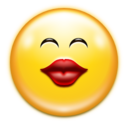 128x128px size png icon of Emotes face kiss