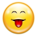 128x128px size png icon of Emotes face raspberry