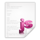 128x128px size png icon of Mimetypes application javascript