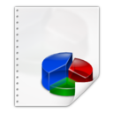 128x128px size png icon of Mimetypes application vnd oasis opendocument chart