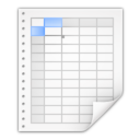 Mimetypes application vnd oasis opendocument spreadsheet Icon