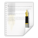 128x128px size png icon of Mimetypes application vnd oasis opendocument text