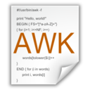 128x128px size png icon of Mimetypes application x awk