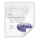 128x128px size png icon of Mimetypes application x php