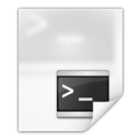 128x128px size png icon of Mimetypes application x shellscript