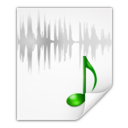 128x128px size png icon of Mimetypes audio x wav