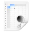 128x128px size png icon of Mimetypes text csv
