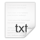 128x128px size png icon of Mimetypes text plain