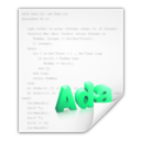 Mimetypes text x adasrc Icon