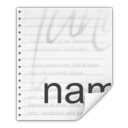 128x128px size png icon of Mimetypes text x authors