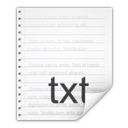 128x128px size png icon of Mimetypes text x generic