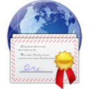 128x128px size png icon of Places certificate server