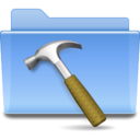 128x128px size png icon of Places folder development