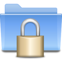 128x128px size png icon of Places folder locked