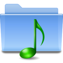 128x128px size png icon of Places folder sound